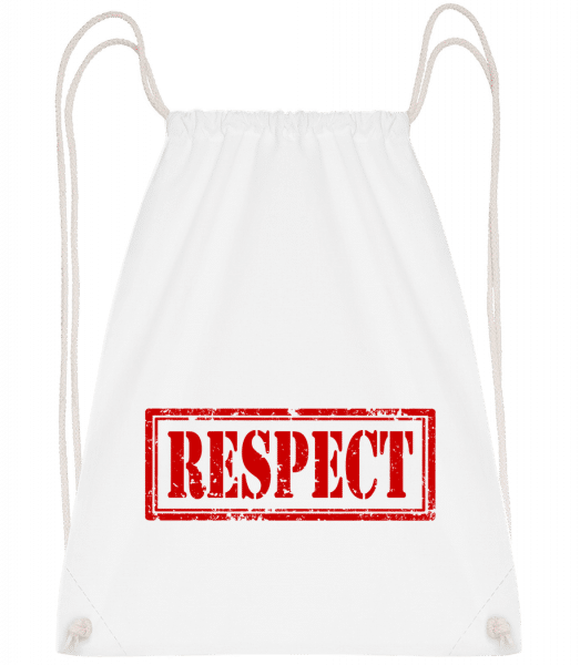 Respect Sign - Drawstring Backpack - White - Vorn