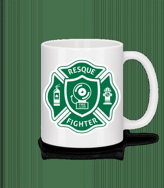 Resque Fighter - Mug - White - Vorn