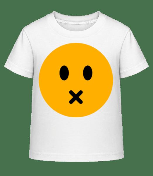 Silent Smiley - Kid's Shirtinator T-Shirt - White - Front