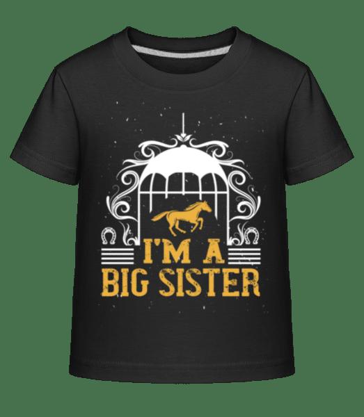 I'm A Big Sister - Kid's Shirtinator T-Shirt - Black - Vorn