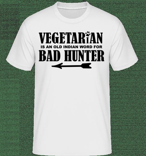 Vegetarian Bad Hunter -  Shirtinator Men's T-Shirt - White - Vorn
