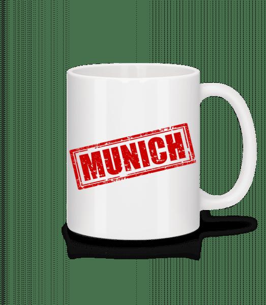 Mníchov Logo - Keramický hrnček - Biela - Predné