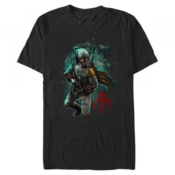 Mandalorian Warrior Boba Fett - Star Wars - Men's T-Shirt - Black - Front