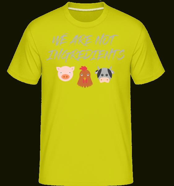 Vegetarian -  Shirtinator Men's T-Shirt - Apple green - Vorn