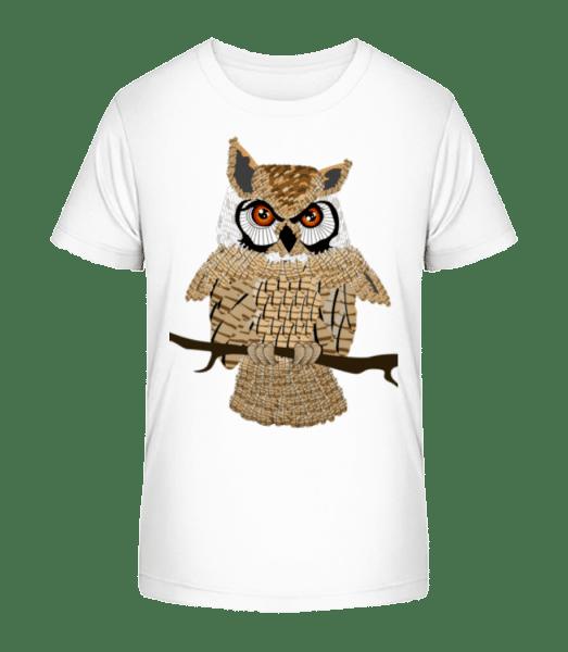 Hibou - T-shirt bio Premium Enfant - Blanc - Vorn