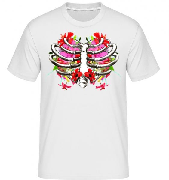 Flowers Lung -  Shirtinator Men's T-Shirt - White - Front