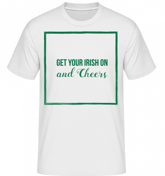 Get Your Irish On Logo -  T-Shirt Shirtinator homme - Blanc - Devant