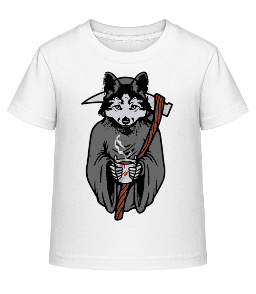Wolf With Scythe Grey - Kid's Shirtinator T-Shirt - White - Vorn