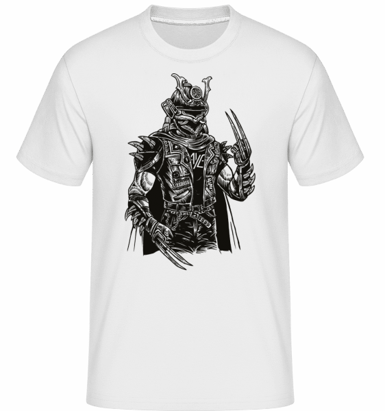 Samurai Punk -  Shirtinator Men's T-Shirt - White - Vorn