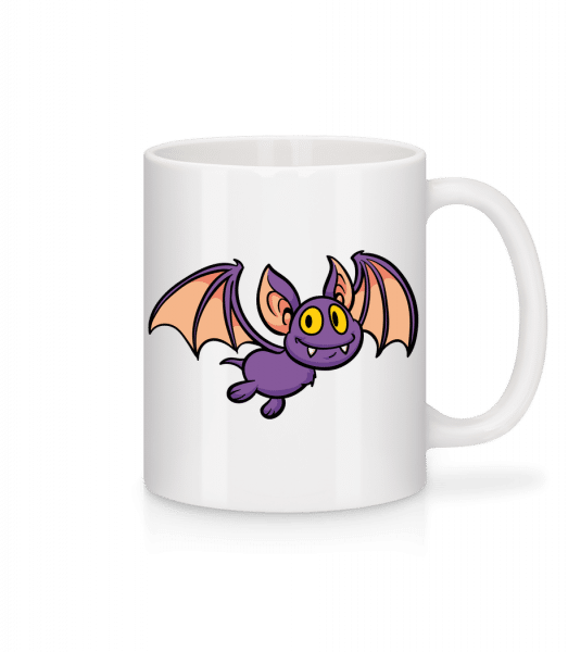 Cartoon Bat - Mug - White - Vorn