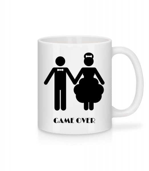 Game Over Wedding - Tasse - Weiß - Vorn