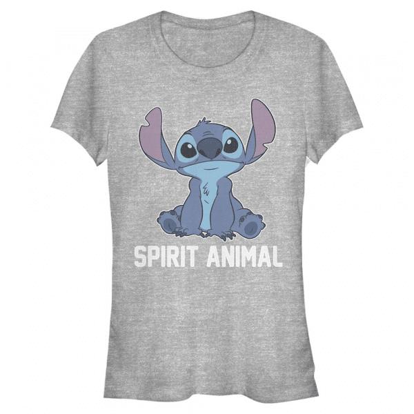 Stitch Spirit Animal v2 - Disney Lilo & Stitch - Women's T-Shirt - Heather grey - Front