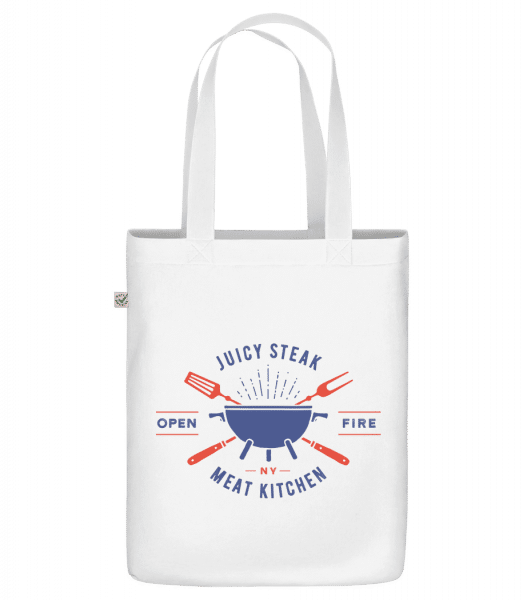 "Juicy Steak - Organic ""Earth Positive"" tote bag - White - Front"