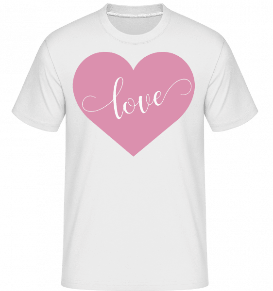 Love -  Shirtinator Men's T-Shirt - White - Vorn