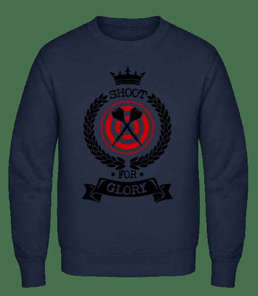 Darts Shoot For Glory - Classic Set-In Sweatshirt - Navy - Vorn
