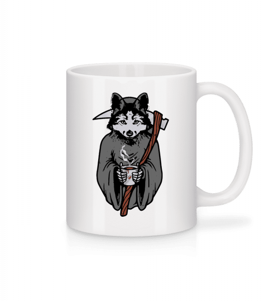 Wolf With Scythe Grey - Mug - White - Vorn