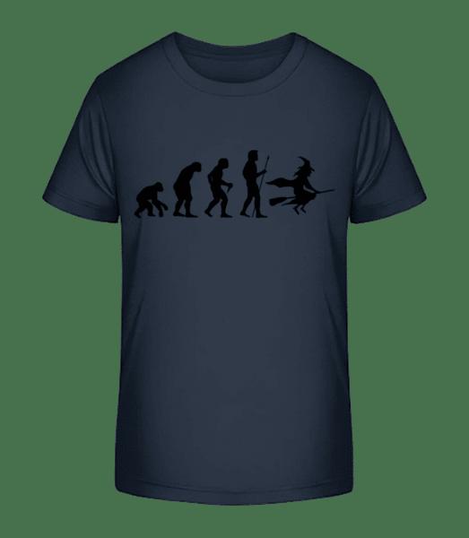 Évolution D'Halloween - T-shirt bio Premium Enfant - Bleu marine - Vorn