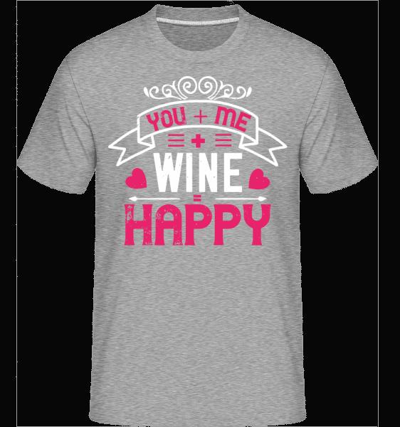 You Me Wine Happy -  Shirtinator Men's T-Shirt - Heather grey - Vorn