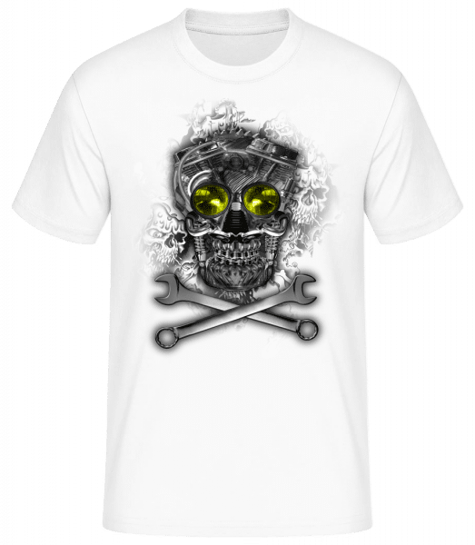 Crâne De Machine - Basic T-Shirt - White - Vorn