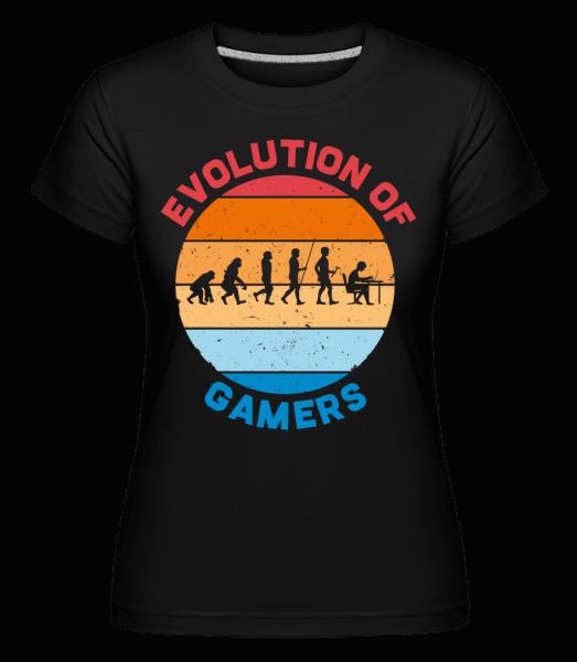 Evolution Of Gamer -  Shirtinator Women's T-Shirt - Black - Vorn