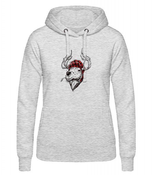 Christmas Reindeer - Women's hoodie - Heather grey - Vorn