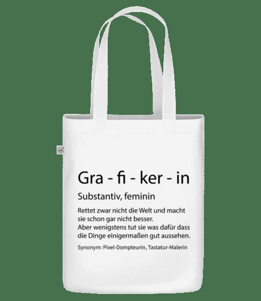 Grafikerin Quatsch Duden - Bio Tasche - Weiß - Vorn