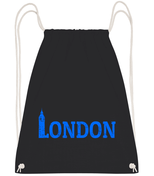 London UK - Drawstring Backpack - Black - Vorn