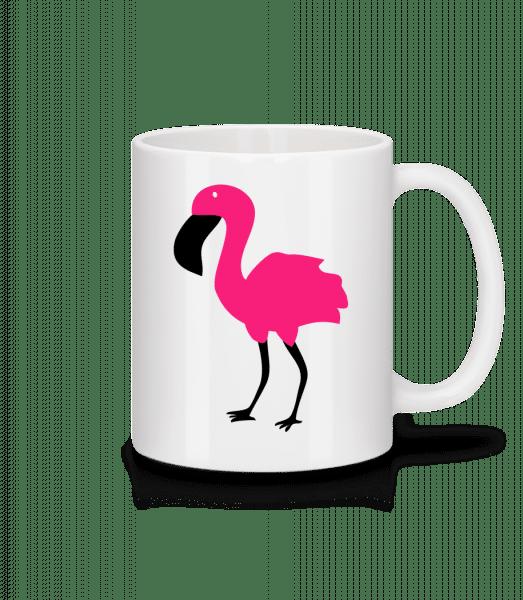 Flamingo Comic Kids - Keramický hrnek - Bílá - Napřed