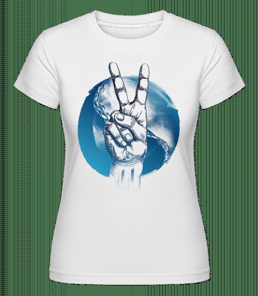 Ozean Peace - Shirtinator Frauen T-Shirt - Weiß - Vorn