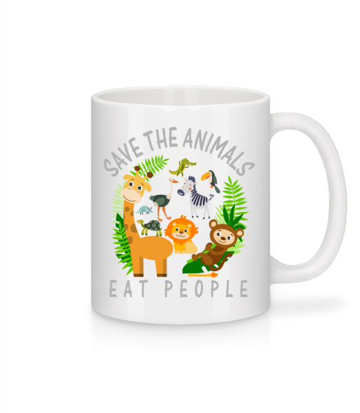 Save The Animals - Tasse - Weiß - Vorn