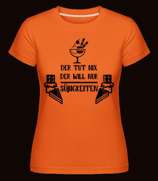 Der Tut Nix Nur Süßigkeiten - Shirtinator Frauen T-Shirt - Orange - Vorn