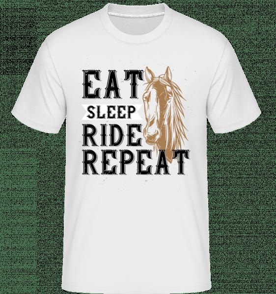 Eat Sleep Ride Repeat -  Shirtinator Men's T-Shirt - White - Vorn