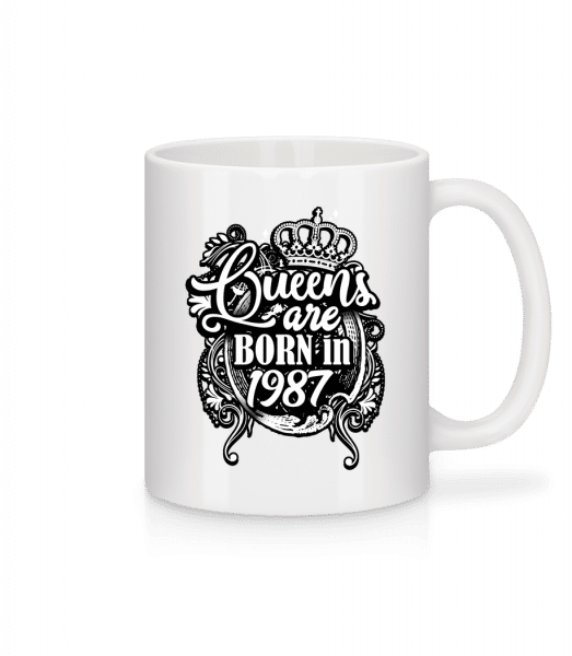 Queens Are Born In 1987 - Mug - White - Front