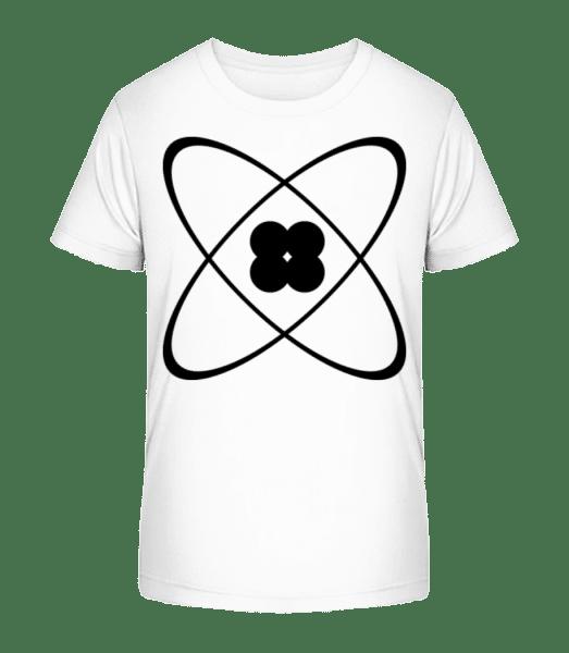 Symbol Of An Atom - Kid's Premium Bio T-Shirt - White - Vorn