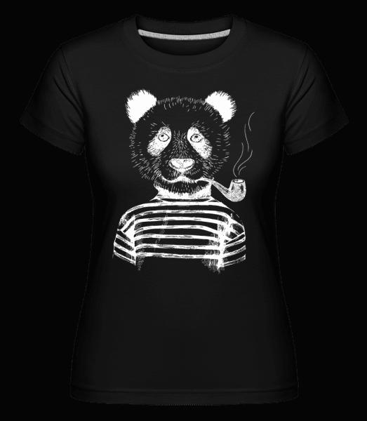 Hipster Panda -  Shirtinator Women's T-Shirt - Black - Vorn
