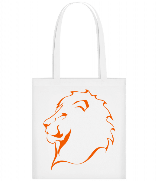 Lion - Carrier Bag - White - Vorn