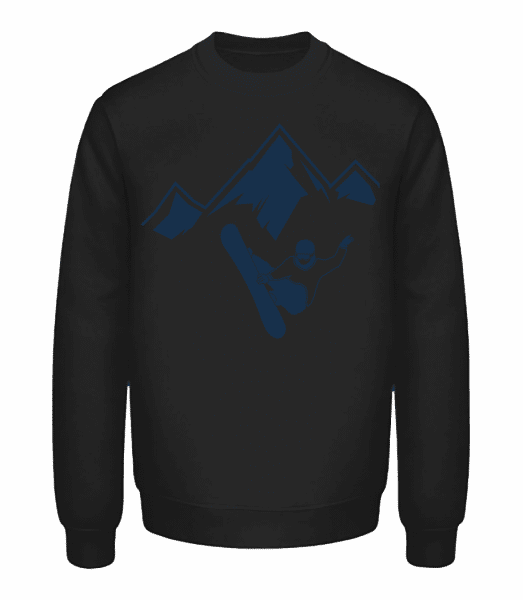 Snowboarding Mountains - Unisex Sweatshirt - Black - Front