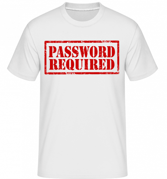 Password Required Sign Red -  Shirtinator Men's T-Shirt - White - Vorn