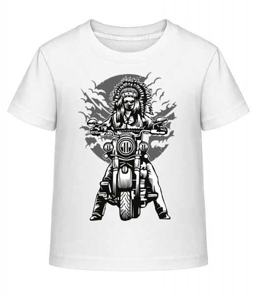 Indian Chief Motorcycle - Kid's Shirtinator T-Shirt - White - Vorn