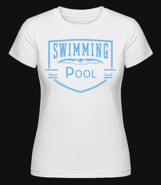 Swimming Pool Sign - Shirtinator Frauen T-Shirt - Weiß - Vorn