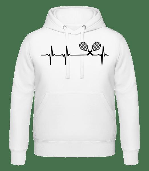 Tennis Herzschlag - Kapuzenhoodie - Weiß - Vorn