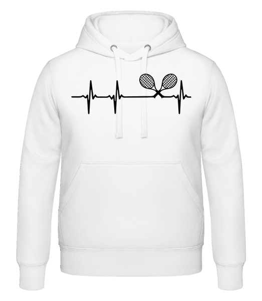 Heartbeat Tennis - Hoodie - White - Vorn