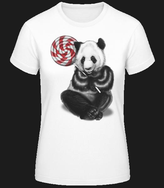 Candy Bear - Women's Basic T-Shirt - White - Front