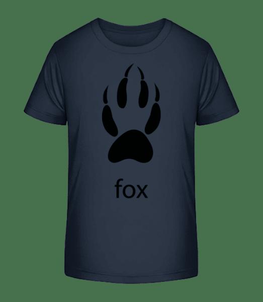 Fox Paw - Kid's Premium Bio T-Shirt - Navy - Front