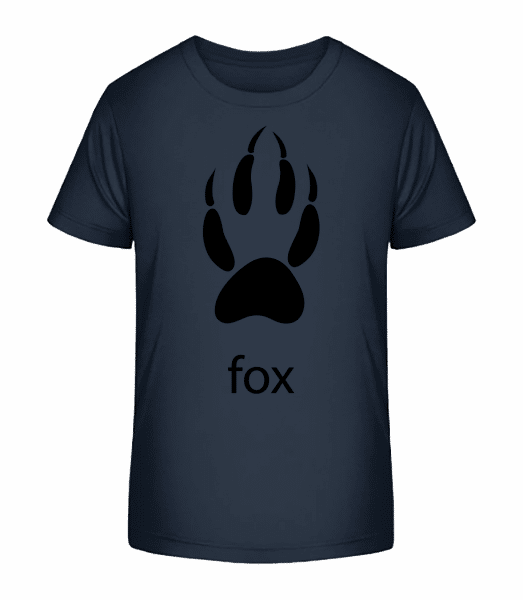Fox Paw - T-shirt bio Premium Enfant - Bleu marine - Vorn