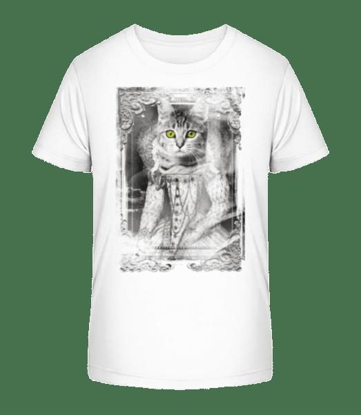 Cats Paintings - Kid's Premium Bio T-Shirt - White - Vorn