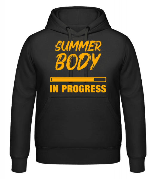 Summer Body in Progress - Kapuzenhoodie - Schwarz - Vorn