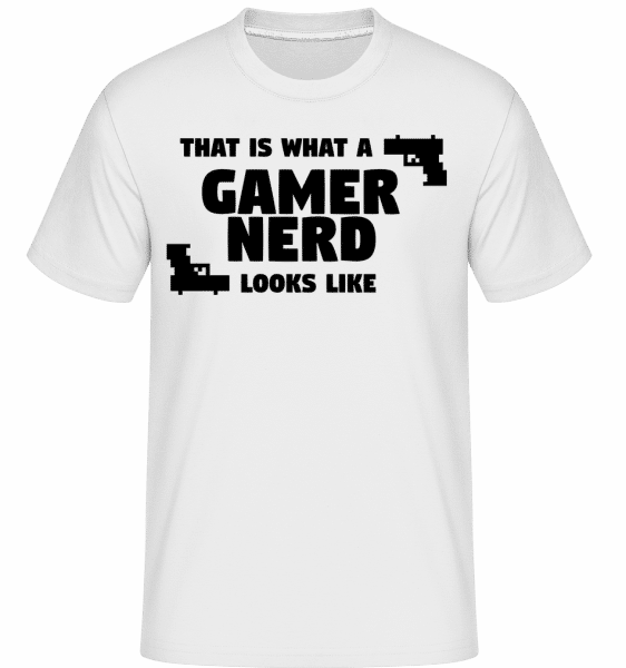 A Gamer Nerd Looks Like -  Shirtinator Men's T-Shirt - White - Vorn