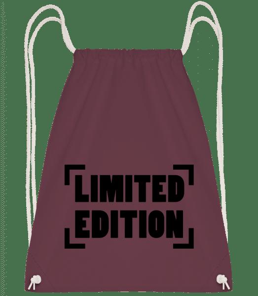 Limited Edition Logo - Drawstring Backpack - Bordeaux - Vorn