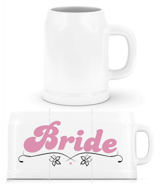 Bride - Beer Mug - White - Front